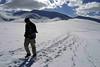 Crossing Mandachalan la after unseasonal September snow on the trail to Tso Kar