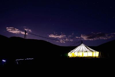 The tea tent at Nimaling