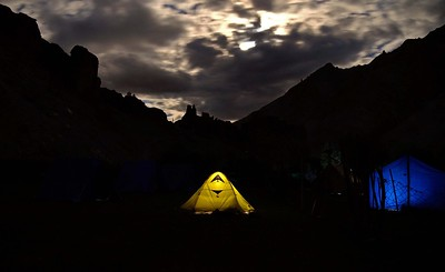 Moonrise at our Markha campsite