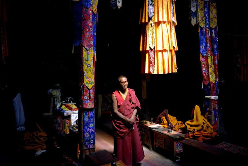Interior of Rangdum monastery