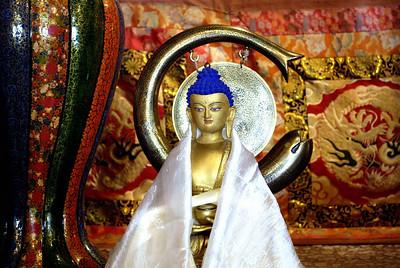 Interior Karsha monastery
