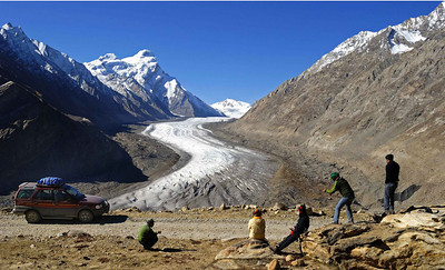 Druk Drang glacier below the Pensi La pass on the road between Kargil and Padum