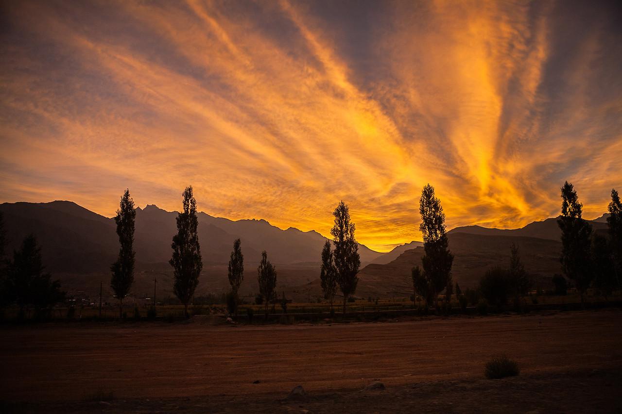 Sunrise at Kargil, India