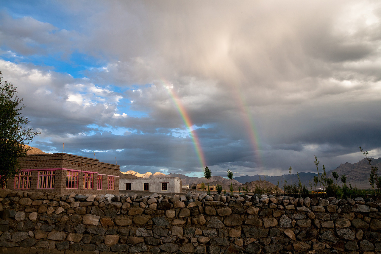 Double Rainbow Leh, Ladakh, India