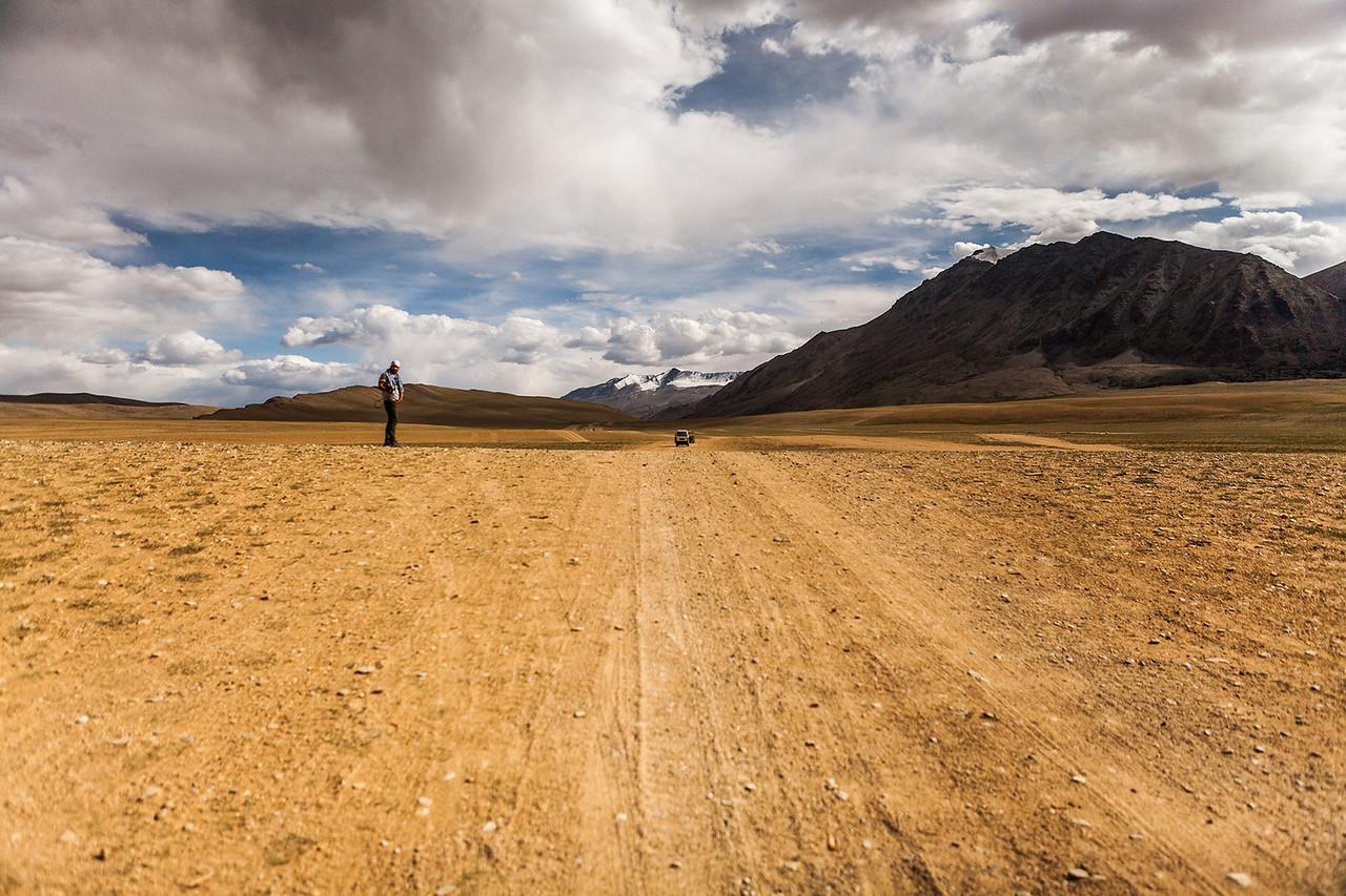 Flatland en route Tso Moriri, Ladakh, India