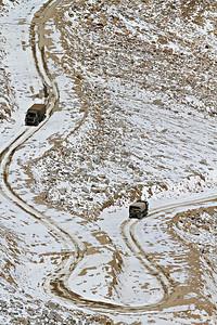 Treacherous Road in to North Pullu