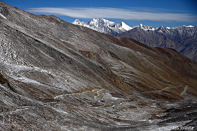 Descent in to North Pullu from Khardung La