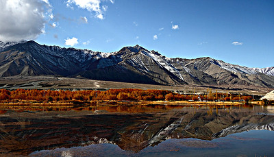 Reflections - near Spituk, on the road to Alchi