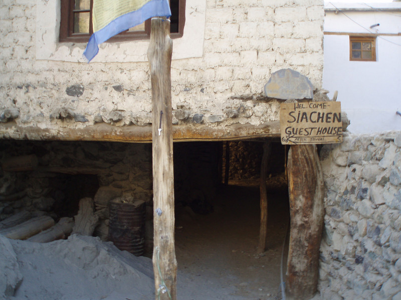 entrance to our hotel in Diskit, the Siachen (they were remodelling, it seems)
