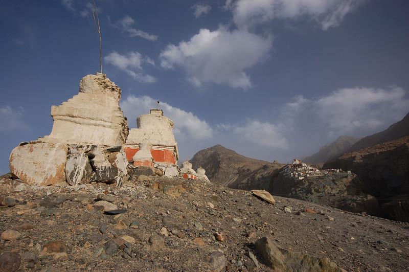 Deskit: Stupas at the Deskit Monastery