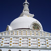 Shanti stupa was built in the 1980's and sits on a hill in the Changspa area overlooking Leh
