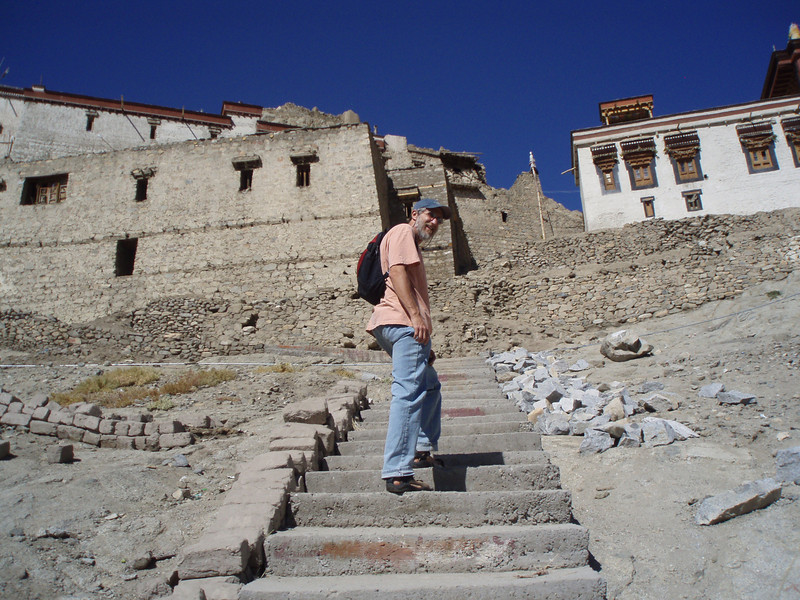 starting the climb from the old section of Leh