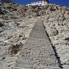 the climb to Shanti Stupa
