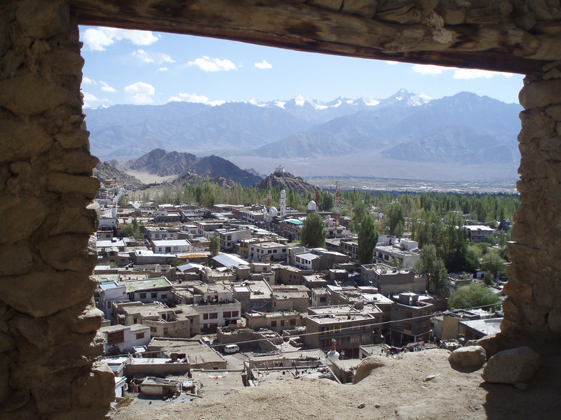 view of Leh from the palace