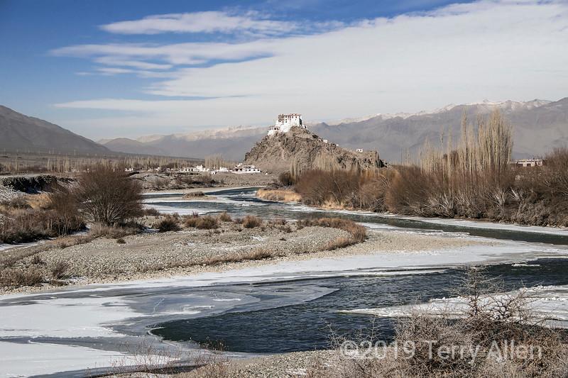 Stakna Monastery on left bank of Indus River, Leh district, Ladakh