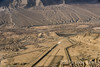 Leh airport, palace and the Indus River, Ladakh, India