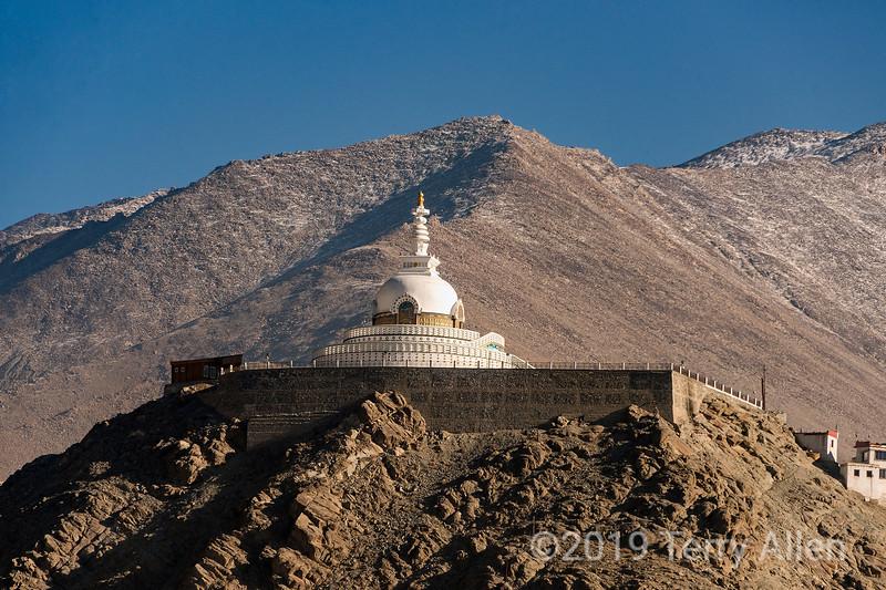 Shanti Stupa, Buddhist chorten, Chanspa, Leh Distrct, Ladakh