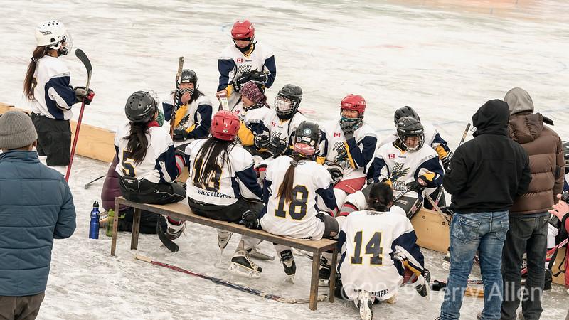 Half-time, Ladakh women's hockey team, 5th Hai Hockey Championship, Leh, Ladakh