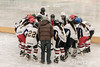 Pre-game huddle, Delhi women's hockey team, 5th Hai Hockey Championship, Leh, Ladakh