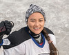 Portrait of a woman hockey player, 2018 Ladakh-Delhi championship game, outdoor ice rink, Leh, Ladakh
