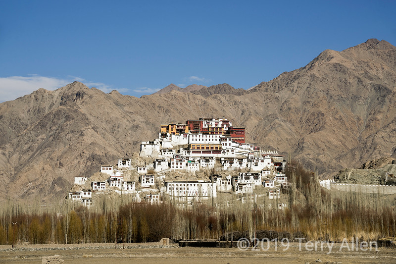 Thikse Gelugspa Tibetan Buddhist Monastery, right bank of Indus River, east of Leh, Ladakh