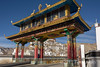 Gateway, Thicksey Gompa, 15th century potala style Buddhist Monastery, near Leh, Ladakh