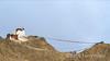 Maitreya temple and long lines of prayer flags above Leh, Ladahk