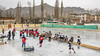 Ladakh (red) vs Delhi (white), Women's Ice Hockey championship game, outdoor ice rink, Leh, Ladakh