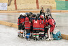 Pre-game huddle, Ladakh women's hockey team, 5th Hai Hockey Championship, Leh, Ladakh