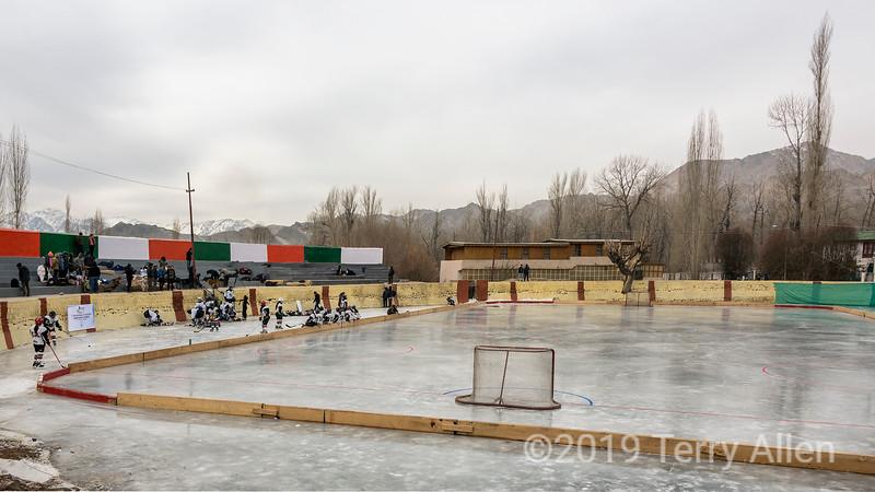 Women hockey players from Ladakh and Delhi get ready for the 5th Hai Int'l Hockey Championship, Leh, Ladakh
