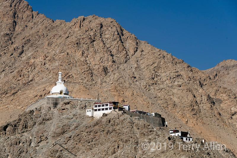 Shanti Stupa, 1991, Peace Pagoda mission, Chanspa, Leh district, Ladakh, India