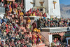 Gelug-pa (Yellow Hat) monks at the Gustor festival, Spituk Buddhist Monastery, Leh, Ladakh