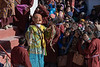 Masked character, Gustor festival, Spituk Gomba, Leh, Ladakh