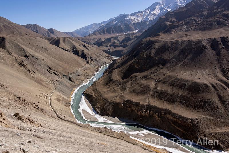 Indus river on way to Zanskar junction, Jammu and Kashmir, India