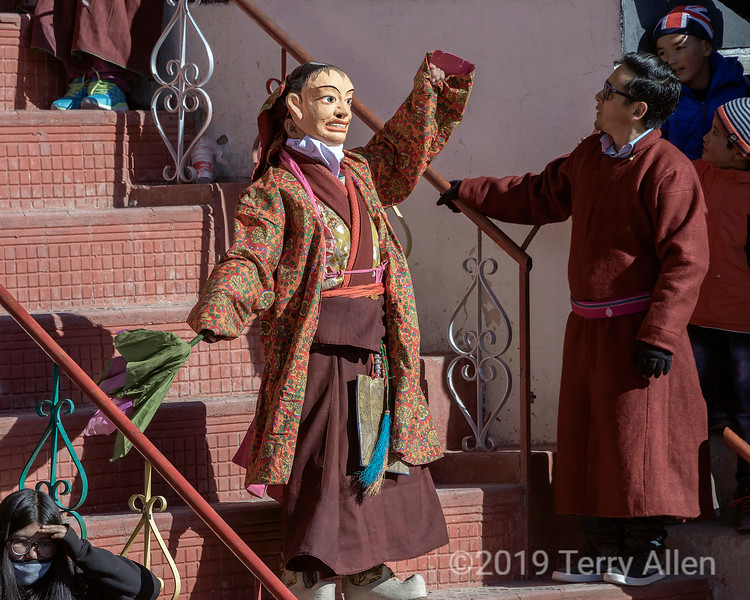 Masked Cham dancer
