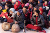 Musicians and crowd at the Gustor Festival, Spituk Gompa, Leh, Ladakh
