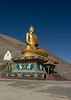 Gautama Buddha in lotus position, 22 m high, built 2012-2015, conscrated by 14th Dalai Lama, Stok, Ladakh