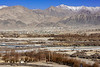 Looking north across the Indus River to Leh, Ladakh