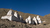 Line of stupas above the Stok valley, Stok, Ladakh