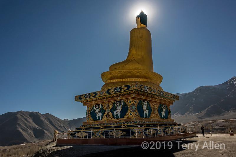 Stok buddha with sun halo md