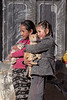 Two Ladakh girls with their pet cats, Ulley, Ladakh