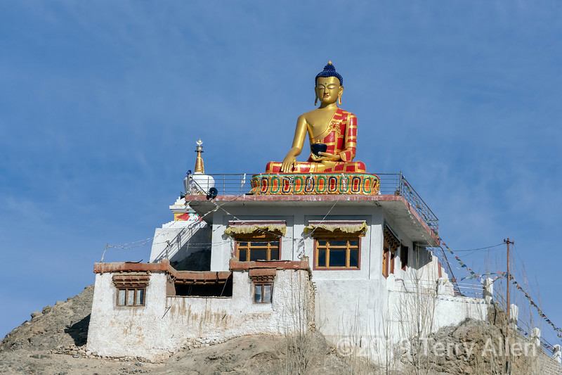 Golden Buddha at the small monastery, Hemis Shukpachn, Ladakh