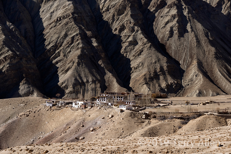 Small village  and farms near the Ulley Road, Ladakh, Jammu and Kashmir