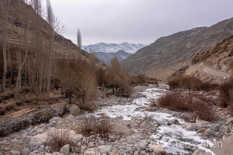 Ulley creek and valley (Ulley Chuu) near Snow Leopard Lodge, Ulley, Ladakh