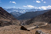 Off the beaten track at 13,000 ft on the Ulley Road, with the Ladakh Range, Jammu and Kashmir
