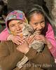 Ladakh women with kitten