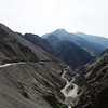 The incredible switchbacks leaving Lamaruyu on the way to Alchi