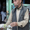 Selling produce along Kargil's main street