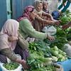 Produce vendors line Kargil's main street