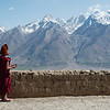 Looking out from the rooftop of Karsha Gompa at the Great Himalayan Range